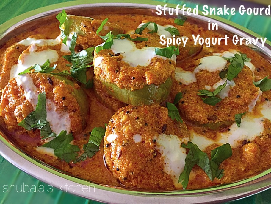 Stuffed Snake Gourd in Spicy Yogurt Gravy