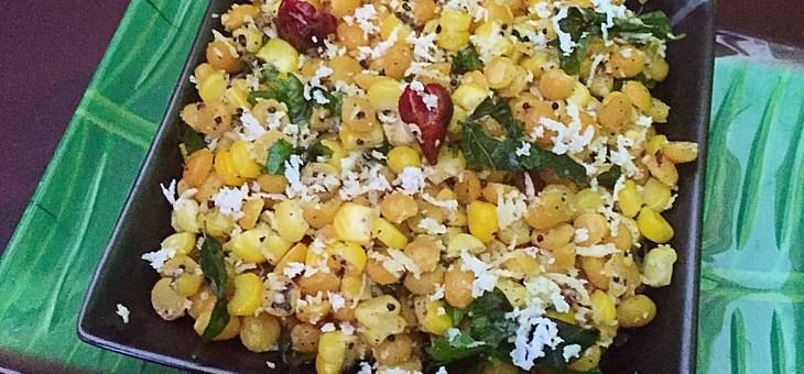 Corn Kadala Paruppu Sundal