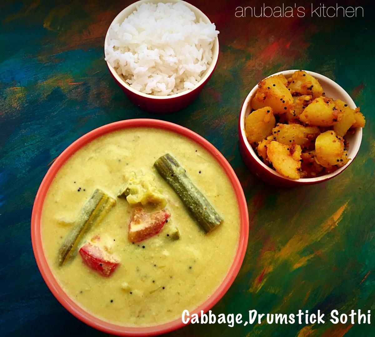 Cabbage, Drumstick Sothi