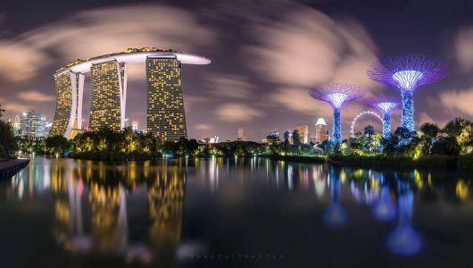 Marina Bay Sands and Super tree