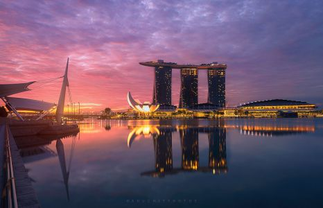 Sunrise Marina bay
