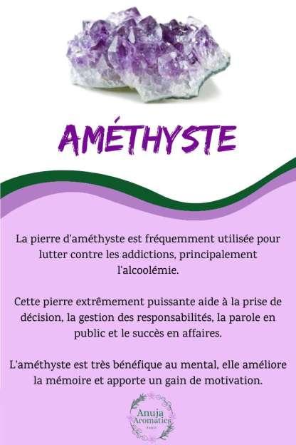 Améthyste - Signification, Propriétés et Vertus de la Pierre en Lithothérapie