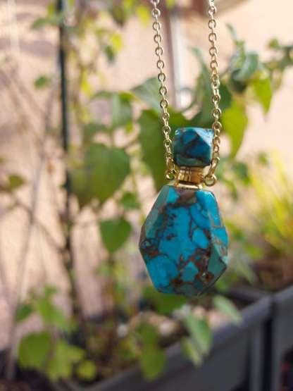Pendentif diffuseur de parfum Samsara en Turquoise
