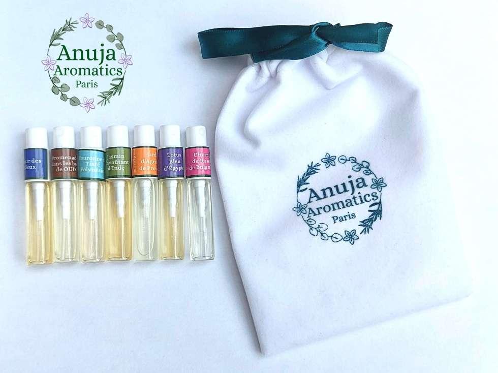 Échantillons de 7 Parfums Naturels Bio avec Pochon Velours