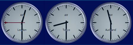 world clock features