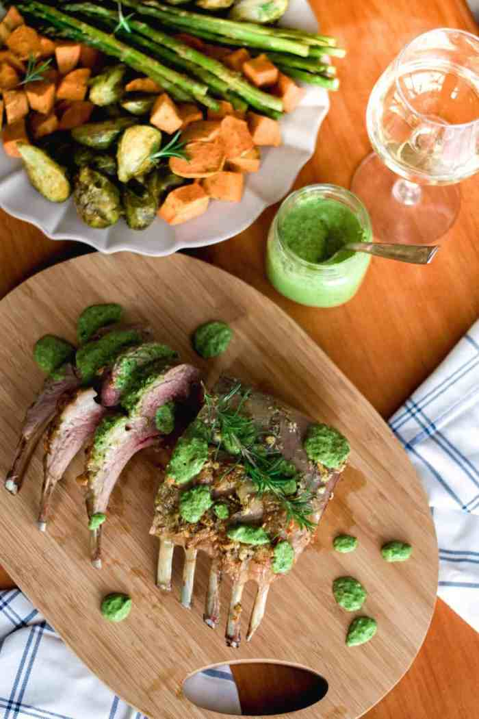 Easter Brunch Recipe || Rack of Lamb with Mint Pesto
