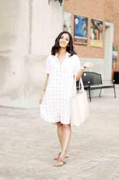Blush Gingham Dress