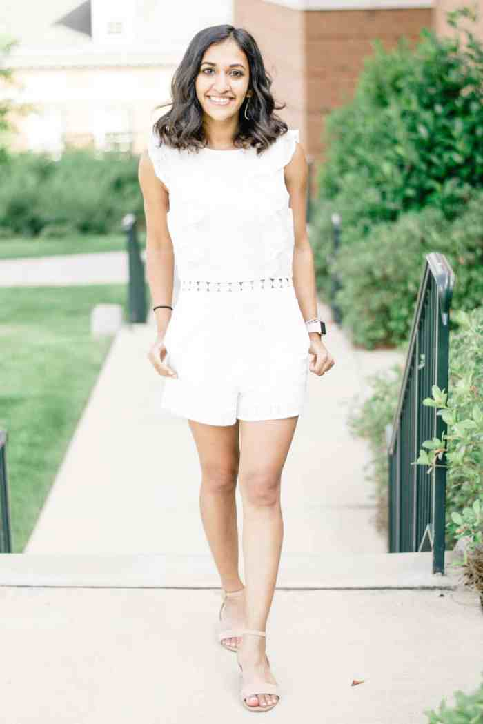 White Eyelet Romper and A Wedding Update