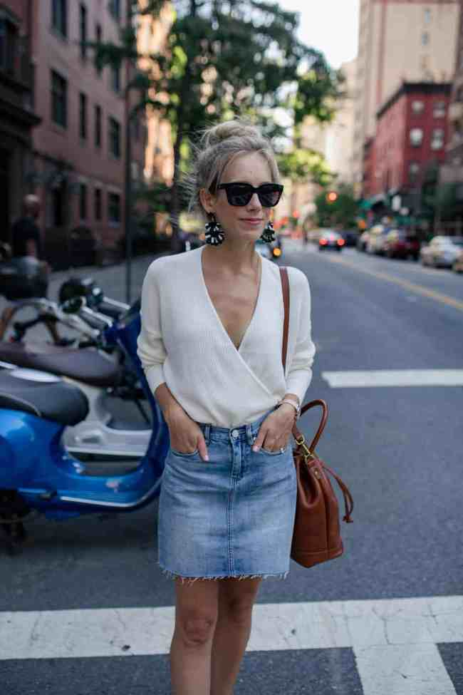 Denim Skirt for Fall