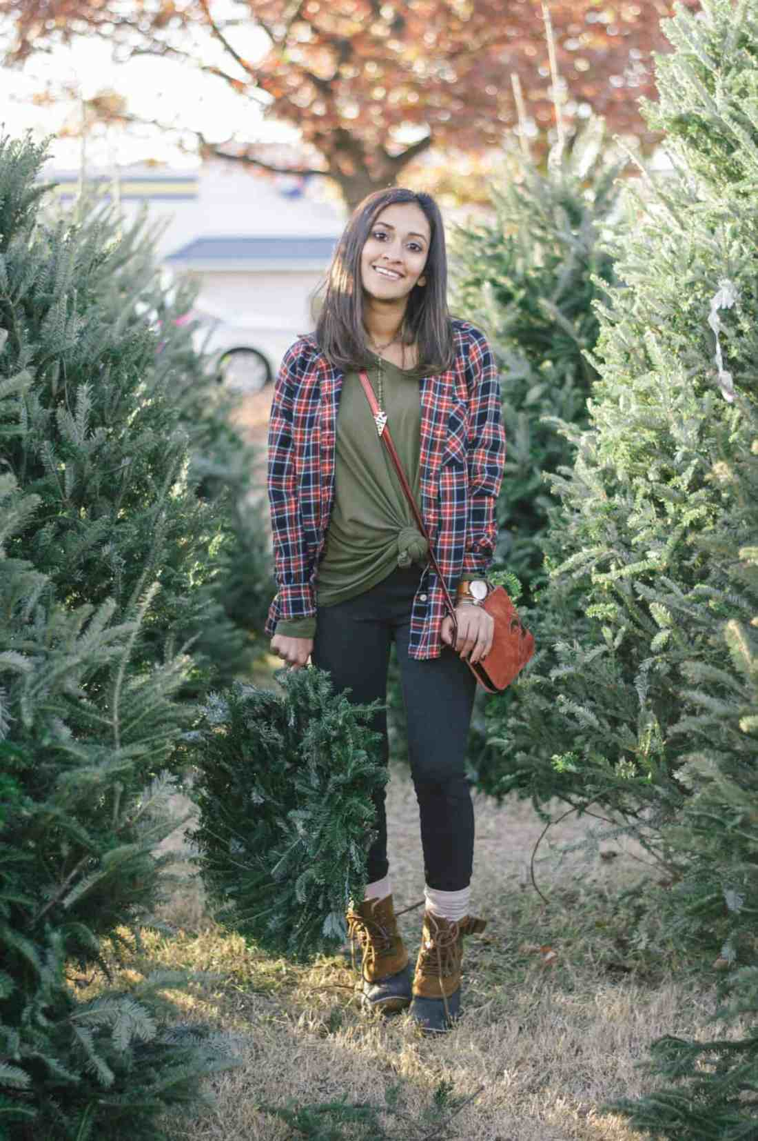 christmas tree picking outfit