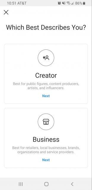 Que son las cuentas de creador de Instagram?