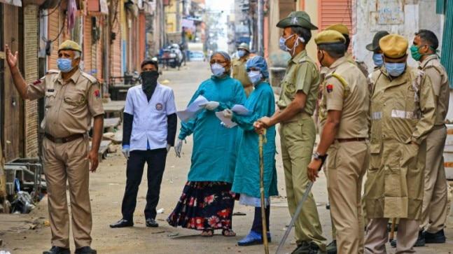 Medical team conducting door-to-door screening for novel coronavirus in Jaipur on Friday