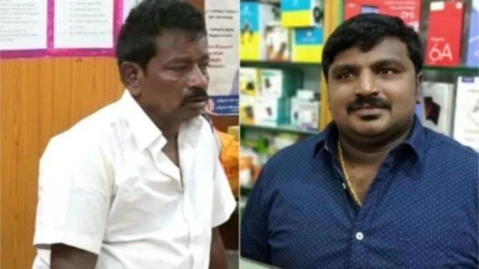 जयराज (बाएं) और उनके बेटे जे बेनिक्स (दाएं) की फाइल फोटो