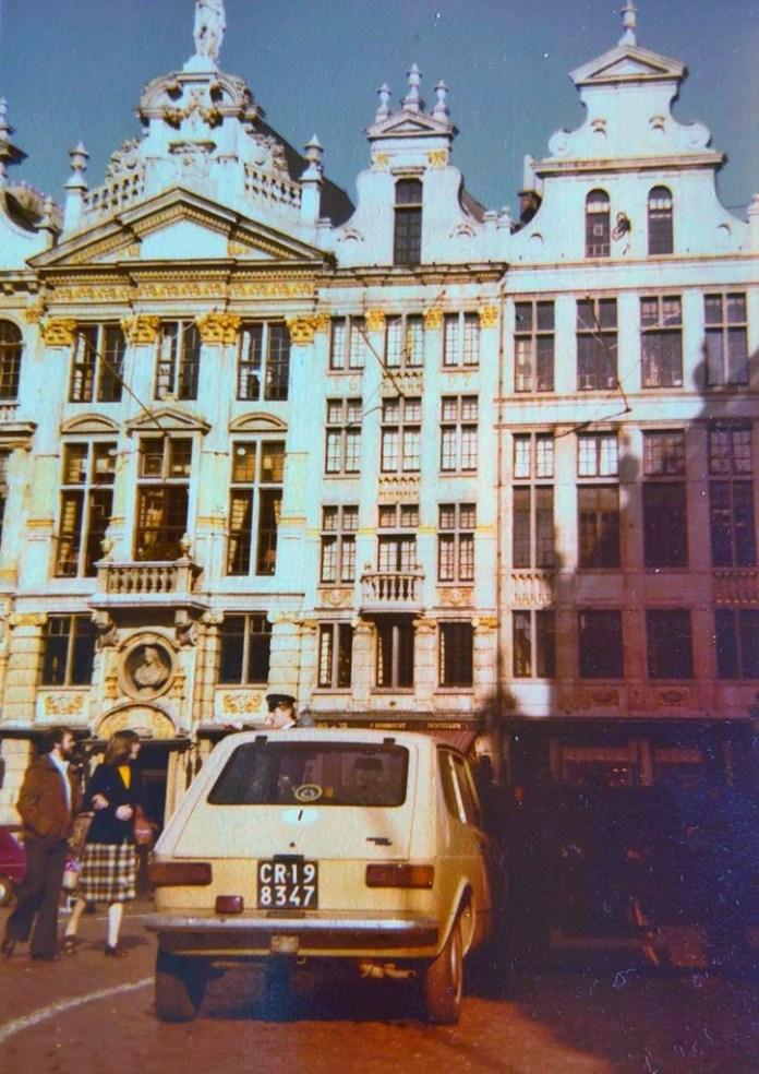 1979 में ब्रुगेस में बेप सेवरगिनी की फिएट 127