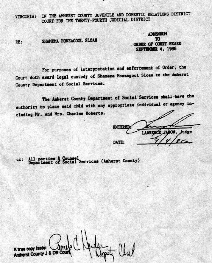 Order of Judge Lawrence Janow September 4, 1986 which