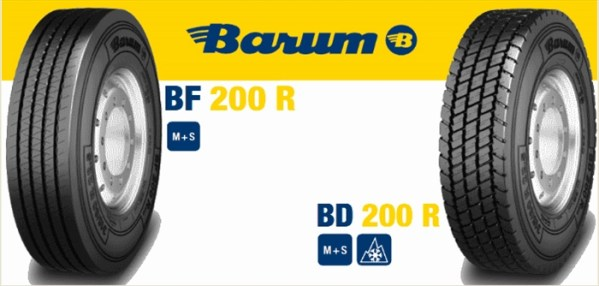 Anvelopa VARA BARUM 385/65R22.5 160K (158L) TL BF 200 R EU LRL 20PR M+S