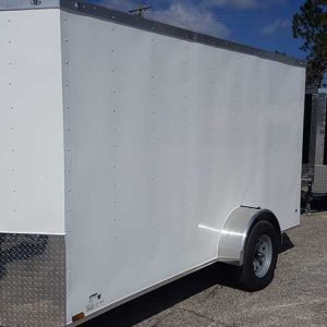 6x10 V Nose Single Axle Enclosed Trailer