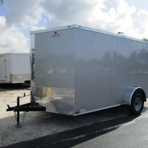 7x12 V Nose Single Axle Enclosed Trailer