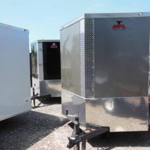 7x14 V Nose Single Axle Enclosed Trailer