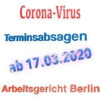 eingeschränkter Betrieb beim Arbeitsgericht Berlin und Landesarbeitsgericht Berlin-Brandenburg