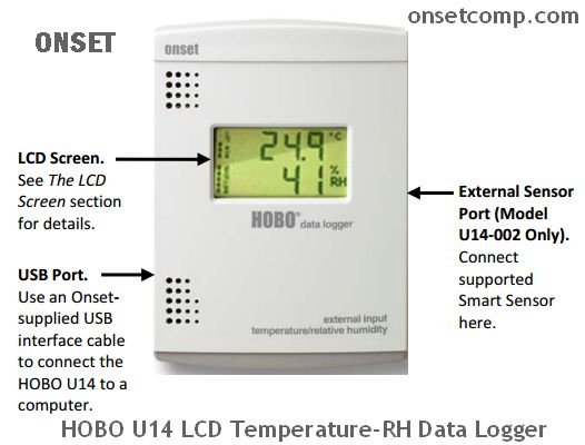 HOBO U14 LCD Temperature-RH Data Logger