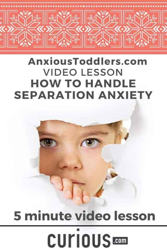 Struggling with separation anxiety? Take this quick 5 minute video lesson and learn how to handle it.