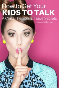 Tired of getting one word answers when your kids come home from school? Here are some child therapist trade secrets to get kids to open up.