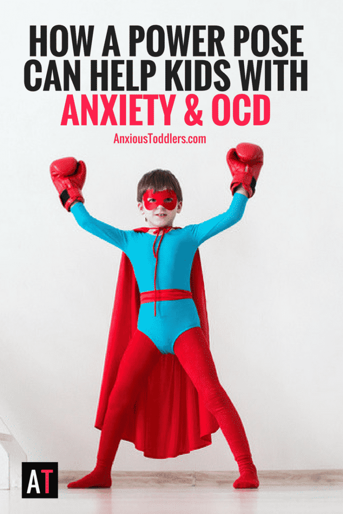 Teaching anxious kids how to do a power pose might be more effective than you might think! There can be power in how we hold ourselves!