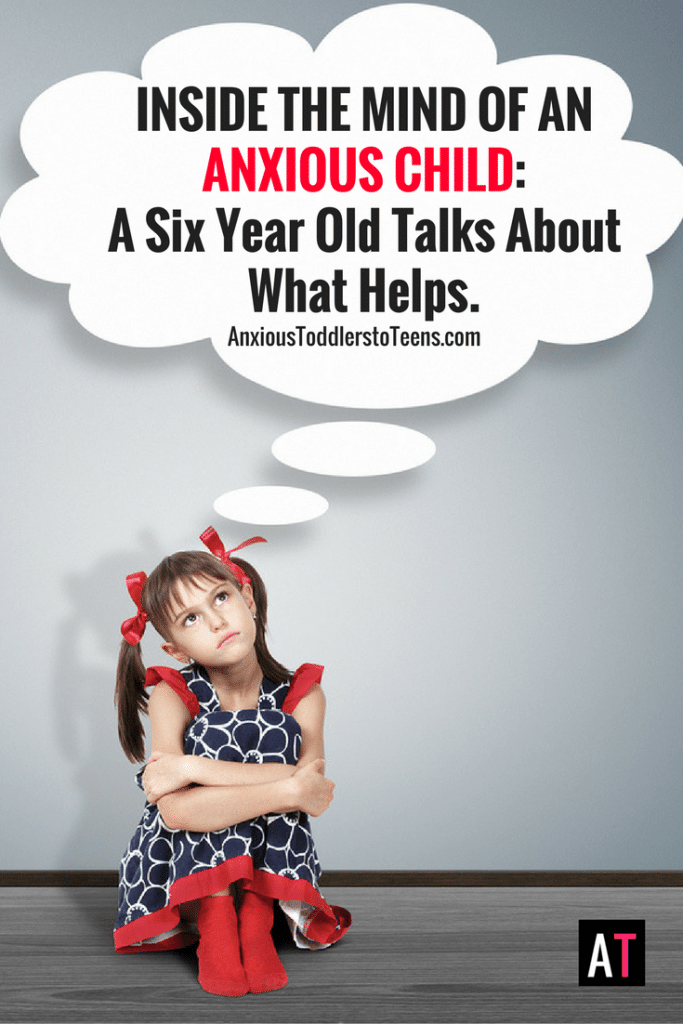 Sometimes the best way to learn how to help an anxious child is to talk to one. A six year old reveals what parents can do to help anxious kids.