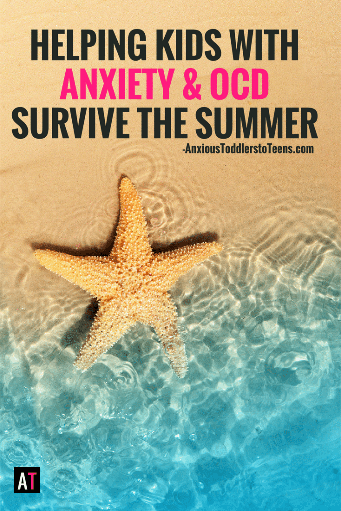Summer can be hard when you have kids with anxiety or OCD. Here are some tips on how to keep help your child through the summer (and keep your sanity). #childanxiety #childocd #childhoodanxiety #childhoodocd