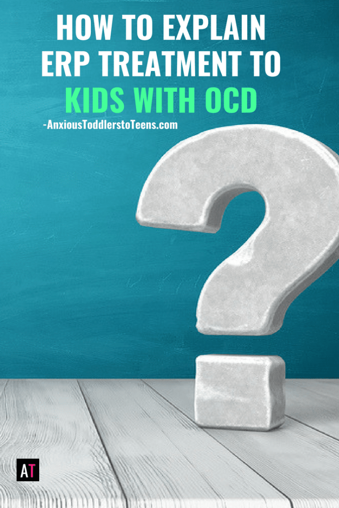 If your child has OCD you will want to help them see the benefit of Exposure Response Prevention. This youtube video can help.