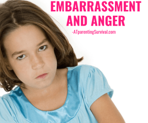 When Your Child's Feelings of Worry Turn into Embarrassment and Anger