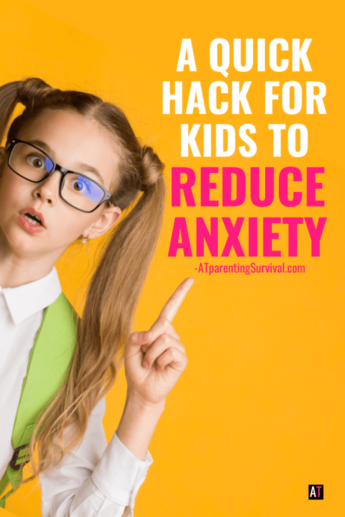 Learn a quick hack for kids to help reduce anxiety when they are feeling panicky or overwhelmed.