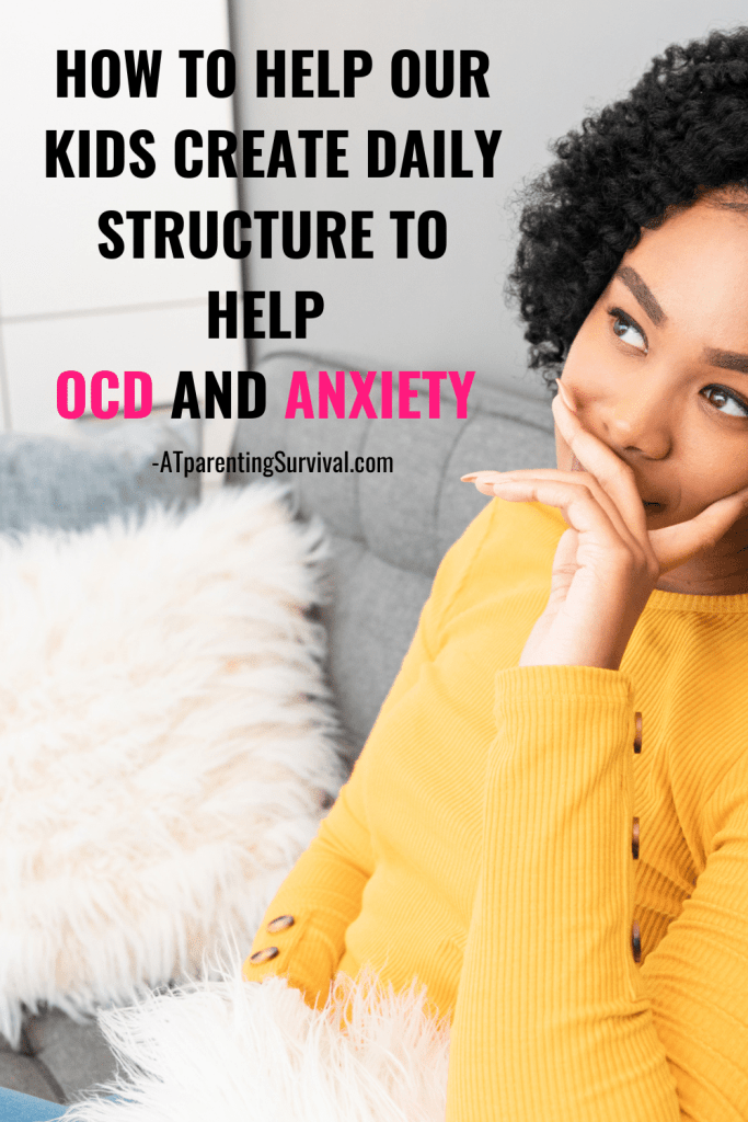 Teaching kids how to create structure in their day can help OCD and anxiety. Routines ground our kids and can help anchor them and improve their mental health.