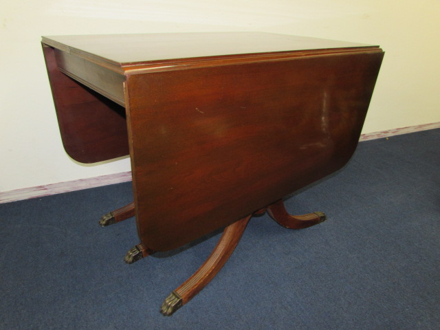 regency mahogany sofa table world chairs antique drop leaf with claw feet - best 2000 ...