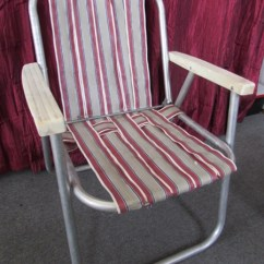 Lawn Chair Webbing Replacement Barber Shop Waiting Chairs Lot Detail - Vintage Aluminum Folding & Rocking With Loads Of