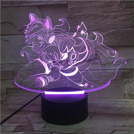 League of Legends LoL Ahri 7 Colors Touch Sensor Table Lamp