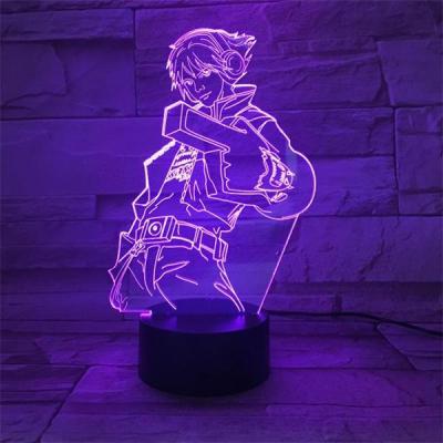 League of Legends LoL Ezreal 7 Colors Touch Sensor Table Lamp