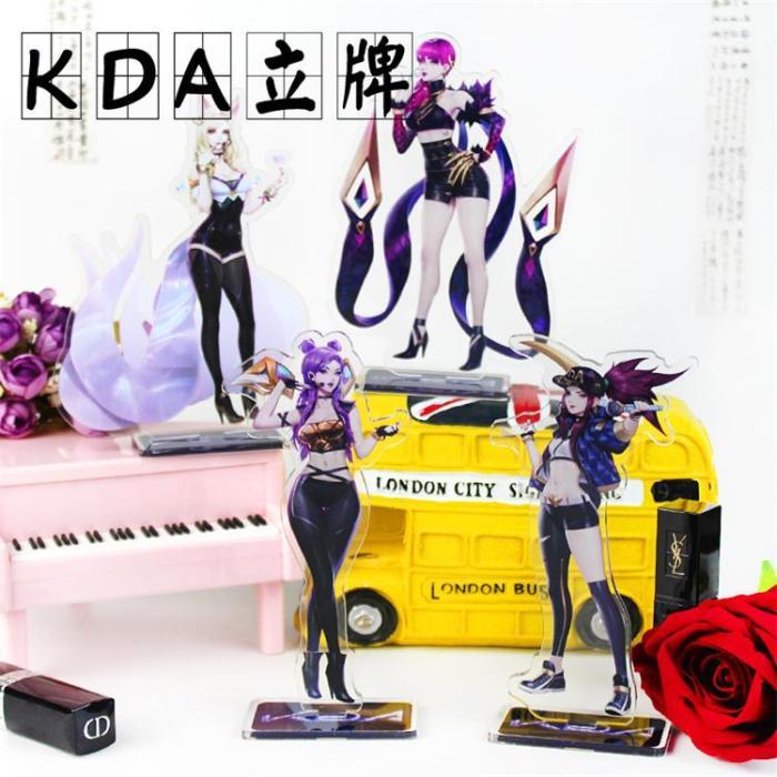 League of Legends K/DA Ahri Akali Evelynn Kai'Sa Figure Acrylic Stands