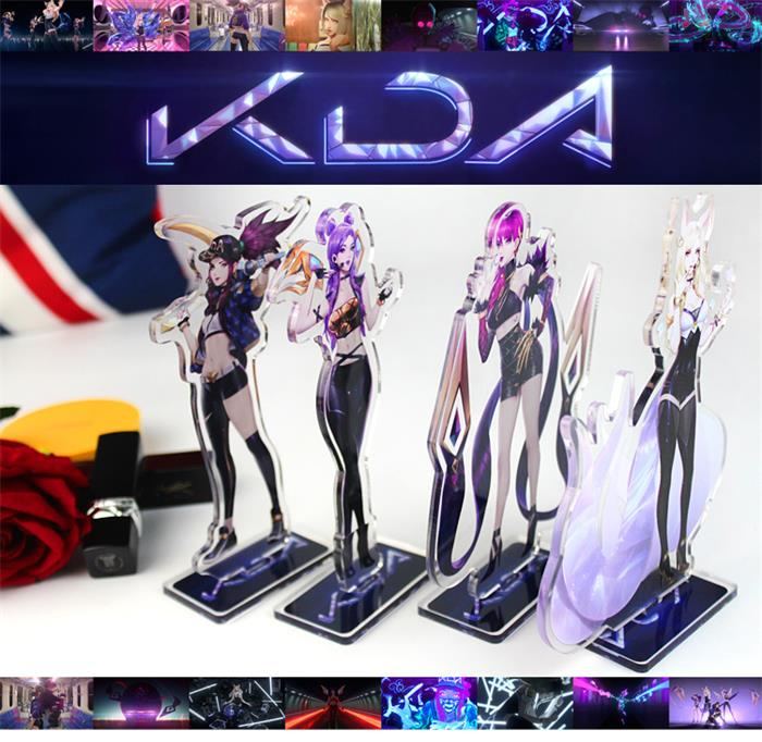 League of Legends K/DA Ahri Akali Evelynn Kai'Sa Figure Acrylic Stands
