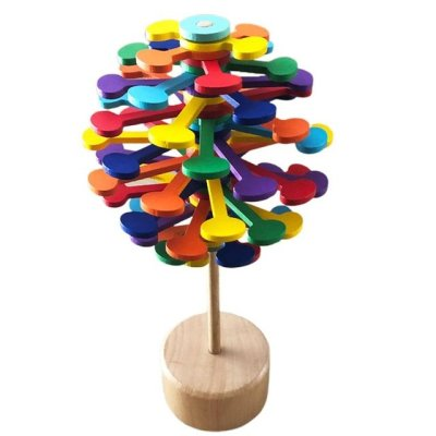 Wooden Helicone Magic Wand Satisfying Toy Stress Relief Toy Creative Art Ornaments Toy Decompression Artifact