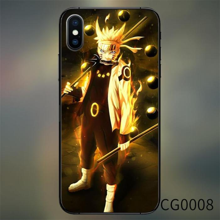 Naruto Sasuke Kakashi Call Light LED Case For iPhone
