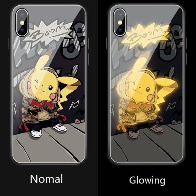Pikachu LED Colorful Glowing Phone Case For iPhone