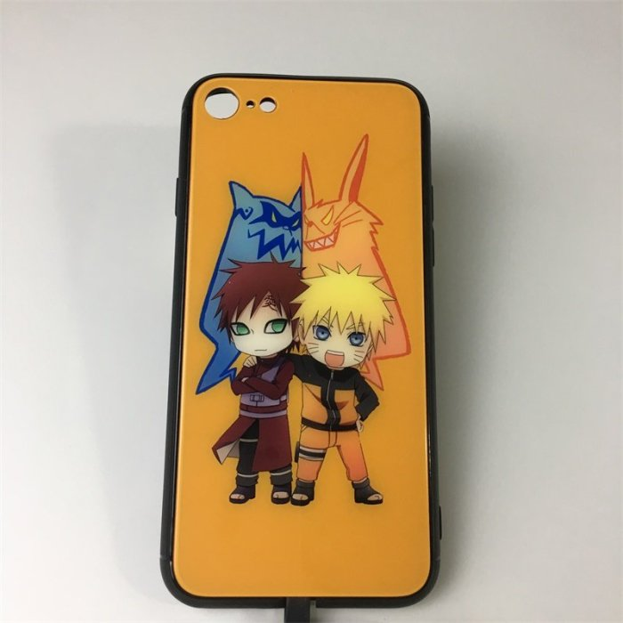 Anime Naruto Gaara LED Colorful Glowing Phone Case For iPhone