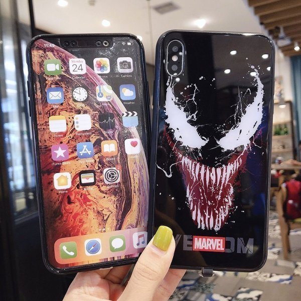 Marvel Venom LED Colorful Glowing Phone Case For iPhone