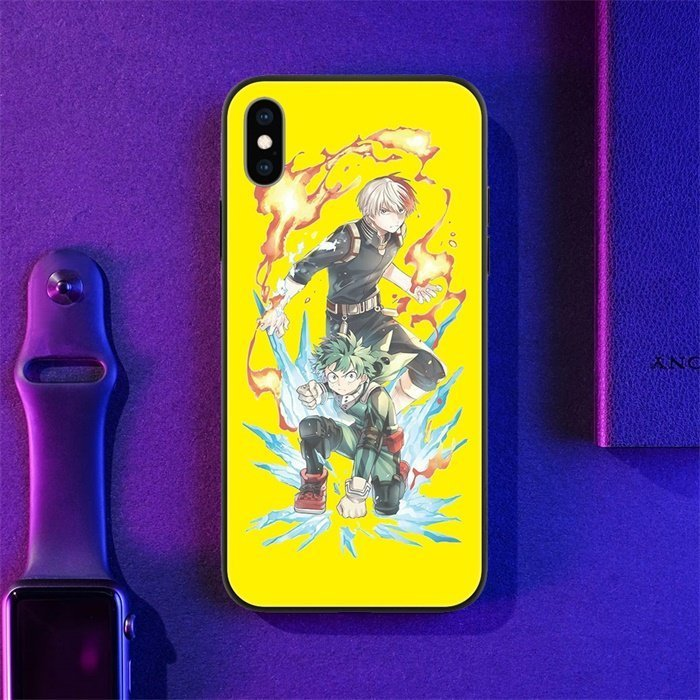 Deku and Todoroki LED Phone Case For iPhone