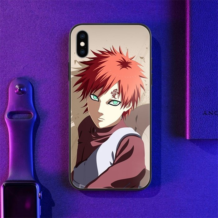 Anime Naruto Gaara LED Phone Case For iPhone