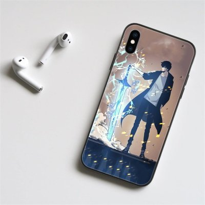 Solo Leveling Sung Jin-Woo LED Phone Case For iPhone
