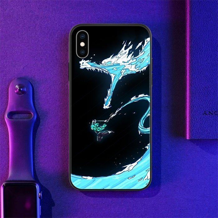 Anime Demon Slayer Tanjiro LED Phone Case For iPhone