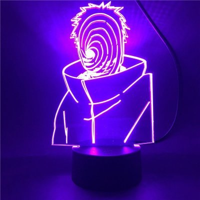 Anime Naruto Obito 16 Colors Table Lamp